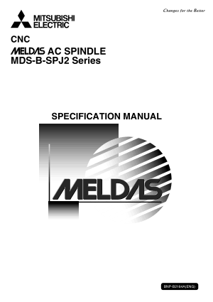 Mitsubishi CNC Meldas AC Spindle MDS-B-SPJ2	Specification Manual
