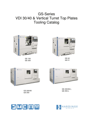 Hardinge GS-Series VDI 30 40