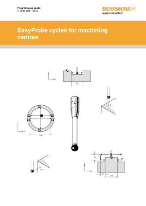 Renishaw Programming Guide EasyProbe Cycles for Machining Centres