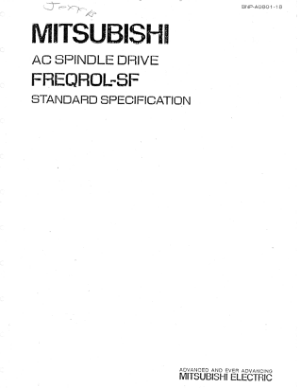 Mitsubishi AC Spindle Drive FREQROL-SF Standard Specification