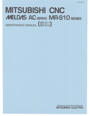 Mitsubishi CNC Meldas AC Servo MR-S10 Maintenance Manual