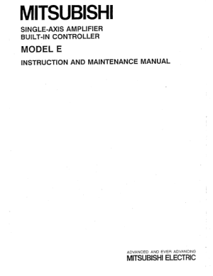 Mitsubishi CNC Single-Axis Amplifier Model E Instruction Maintenance Manual
