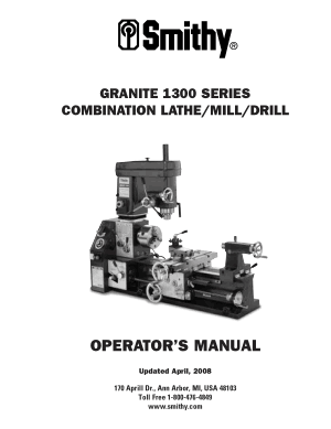 Smithy GRANITE GN1300 Series Manual