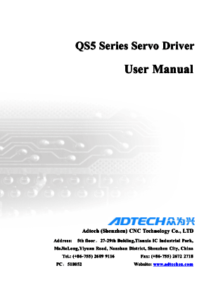 QS5 Series Servo Driver User Manual