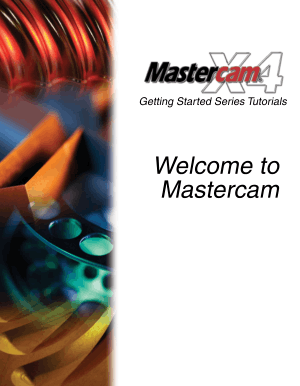 Welcome to Mastercam X4