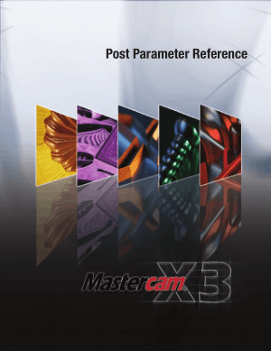 Mastercam X3 Post Parameter Reference
