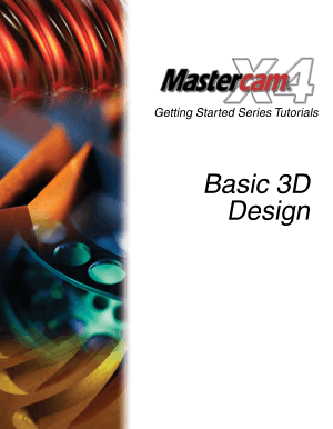 Mastercam X4 Basic 3D Design