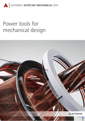 Autocad Mechanical 2015 Power tools for mechanical design