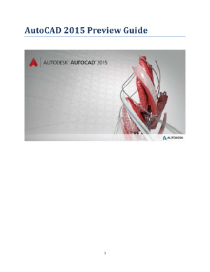 AutCAD 2015 Preview Guide