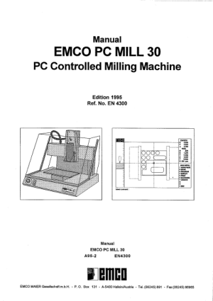 EMCO PC MILL 30 Manual