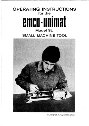 EMCO-UNIMAT Model SL Operating Manual