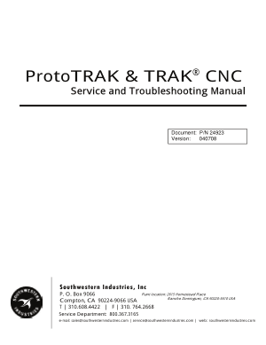 ProtoTRAK TRAK CNC Service and Troubleshooting Manual
