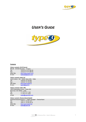 Type3 User Manual version Pro
