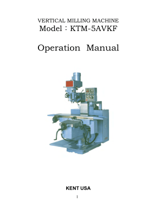 Kent USA KTM-5AVKF Operation Manual