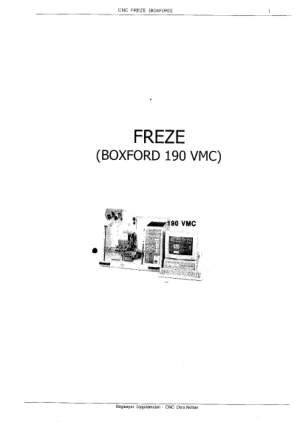 Boxford 190 VMC FREZE Programming Manual