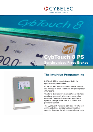 Cybelec CybTouch 8 PS Flyer