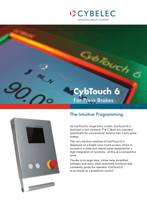 Cybelec Flyer CybTouch 6 P Catalogue