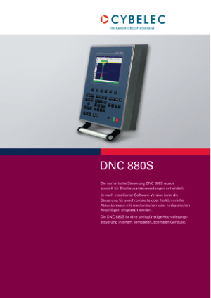 Cybelec DNC 880S de Catalogue