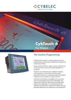 Cybelec Flyer CybTouch 6 Shears