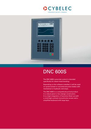 Cybelec DNC 600S en Catalogue