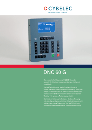 Cybelec DNC 60G de Catalogue