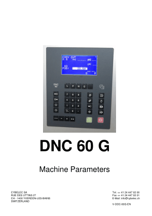 Cybelec DNC 60 G Machine Parameters