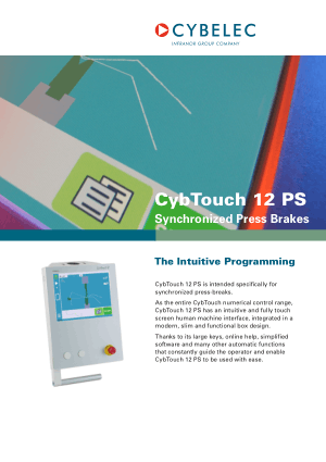 Cybelec CybTouch Catalogue Synchronized Press Brakes