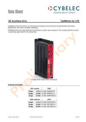 Cybelec Data Sheet CybMotion for LVD AC brushless drive
