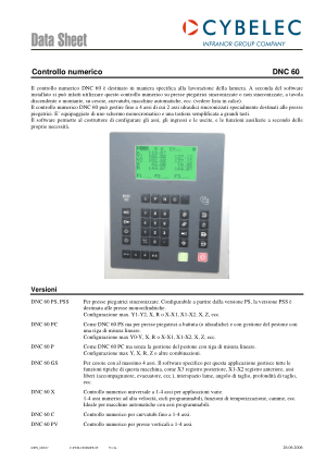 Cybelec Data Sheet Controllo numerico DNC 60
