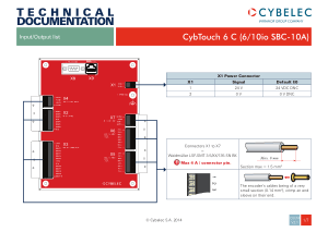 Cybelec Input Output List for CybTouch 6 C (610io SBC-10A)