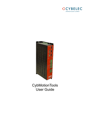 Cybelec CybMotionTools User Guide