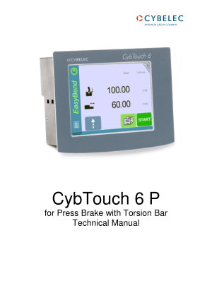 Cybelec CybTouch 6 P for Press Brake with Torsion Bar Technical Manual