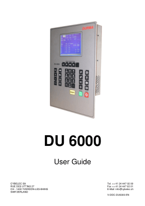 Cybelec DU 6000 User Guide