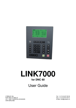 Cybelec LINK7000 for DNC 60 User Guide