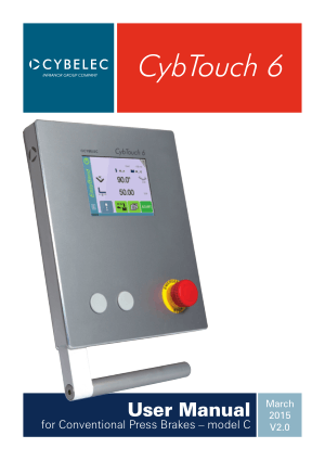 Cybelec CybTouch 6 User Manual for Conventional Press Brakes – model C