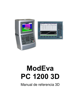 Cybelec ModEva PC 1200 3D Manual de referencia 3D
