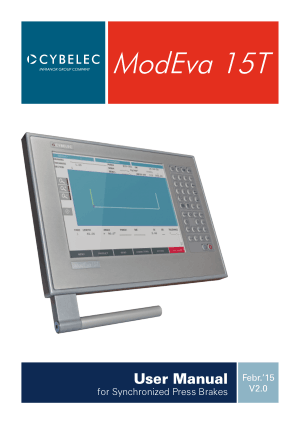 Cybelec ModEva 15T User Manual for Synchronized Press Brakes