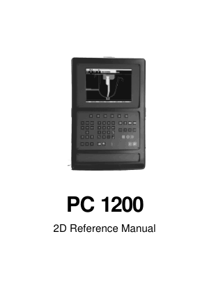 Cybelec PC 1200 2D Reference Manual