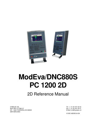 Cybelec ModEvaDNC880S PC 1200 2D 2D Reference Manual