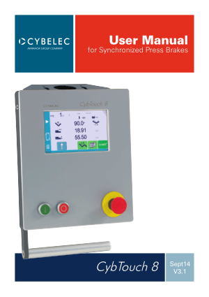 Cybelec CybTouch 8 User Manual for Synchronized Press Brakes