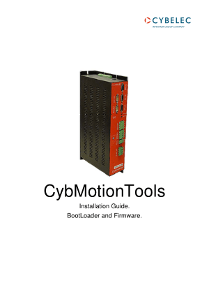 Cybelec CybMotionTools Installation Guide BootLoader and Firmware