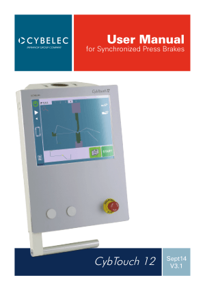 Cybelec CybTouch 12 User Manual for Synchronized Press Brakes
