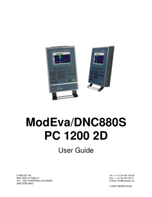Cybelec ModEvaDNC880S PC 1200 2D User Guide