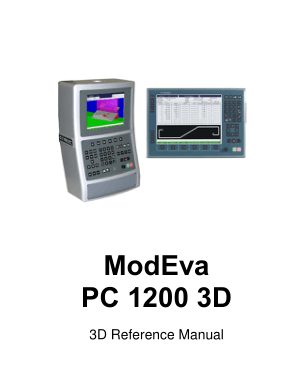 Cybelec ModEva PC 1200 3D 3D Reference Manual