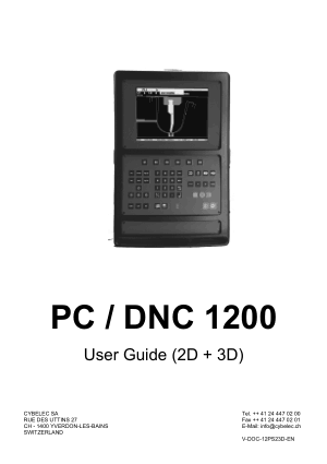 Cybelec PC DNC 1200 User Guide (2D + 3D)