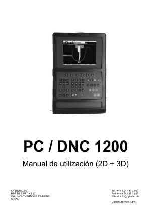 Cybelec PC / DNC 1200 Manual de utilización (2D + 3D)