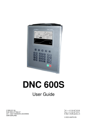 Cybelec DNC 600S User Guide