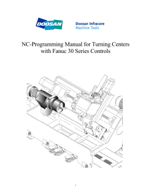 Doosan NC Programming Manual for Turning Centers Fanuc 30 Series Controls