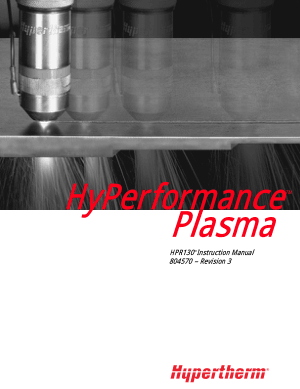 Hypertherm Hyperformance Plasma HPR130 Instruction Manual