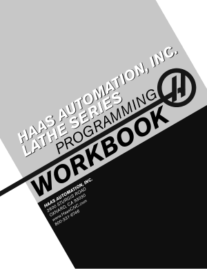 Haas Lathe Programming Workbook